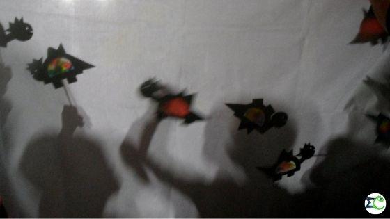 Árnyjáték színes árnybábokkal